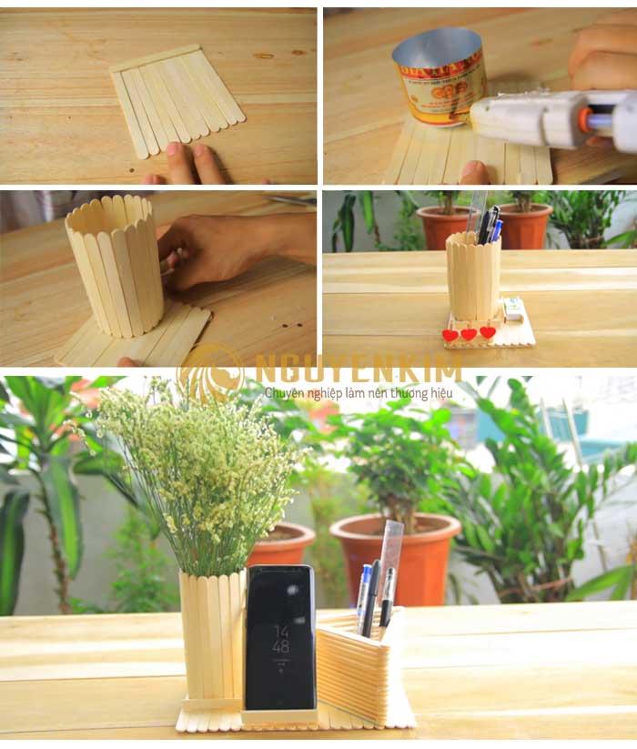 Hướng dẫn làm hộp bút bằng gỗ
