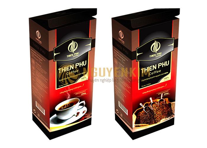 Mẫu vỏ hộp đựng Coffee