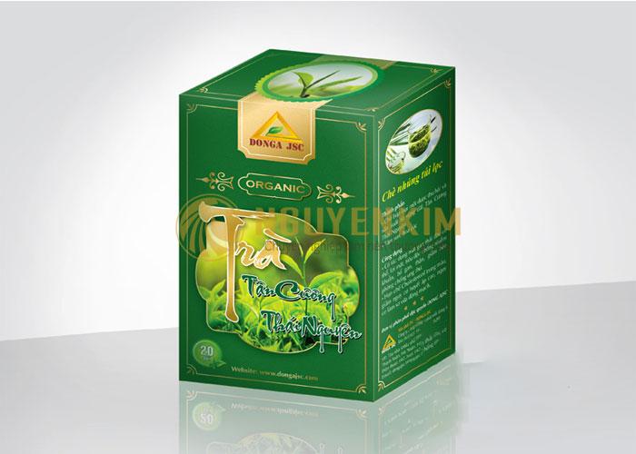Thiết kế hộp trà Tân Cương
