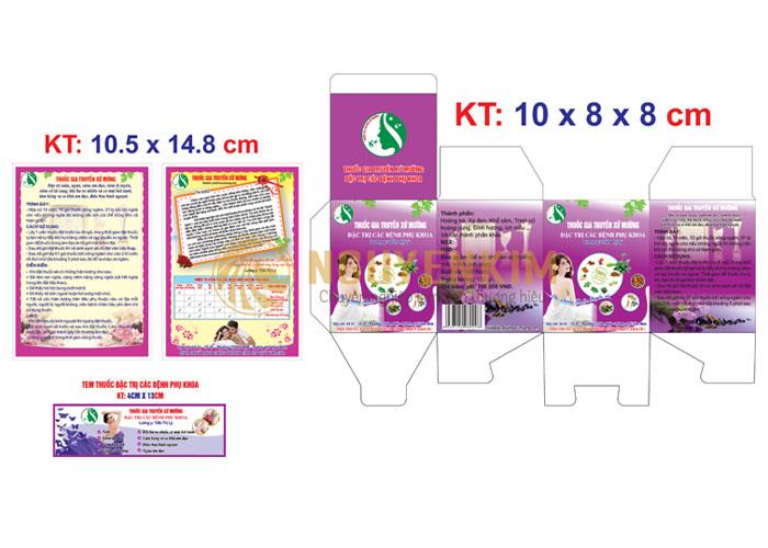 Thiết kế in tem nhãn vỏ hộp thuốc