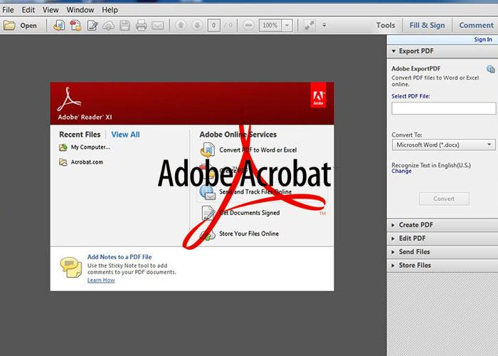 Phần mềm Adobe Acrobat Reader